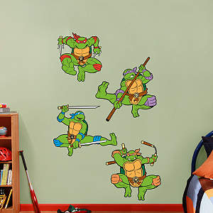 Classic Teenage Mutant Ninja Turtles Collection Fathead Wall Decal